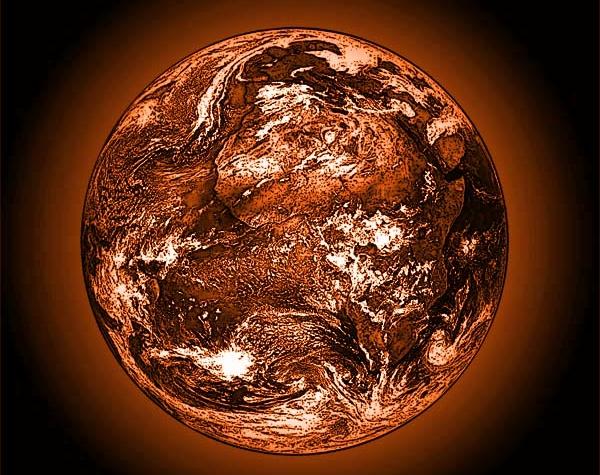 Réchauffement climatique : TF1 nous prend pour des poires !  Orange_earth_warming-600x475